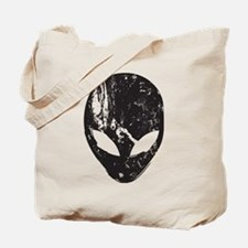 Alien Head (Grunge Texture) Tote Bag