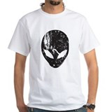Distressed alien Mens White T-shirts