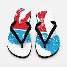 Democrat Donkey (Grunge Texture) Flip Flops
