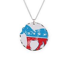 Democrat Donkey (Grunge Texture) Necklace