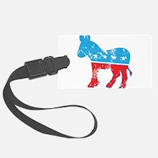 Democrat Donkey (Grunge Texture) Luggage Tag
