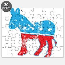 Democrat Donkey (Grunge Texture) Puzzle