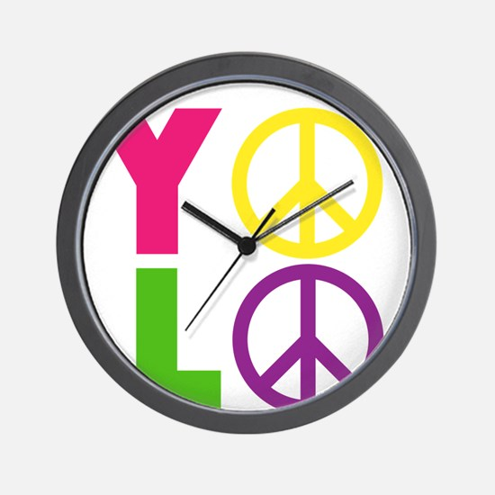 PEACE YOLO Wall Clock
