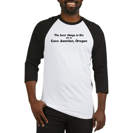 Cave Junction: Best Things Baseball Jersey