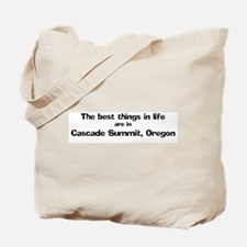 Cascade Summit: Best Things Tote Bag