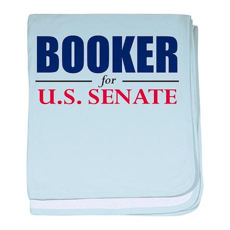 Cory Booker for U.S. Senate baby blanket