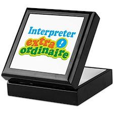 Interpreter Extraordinaire Keepsake Box