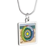 Summer Sunshine Silver Square Necklace