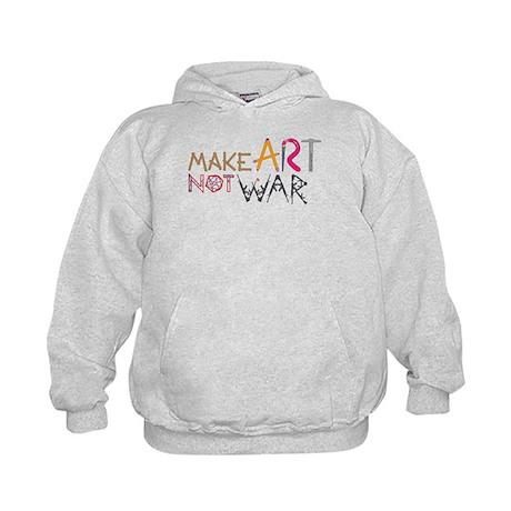 Make Art Not War Kids Hoodie