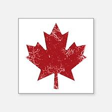 "Maple Leaf Square Sticker 3"" x 3"""