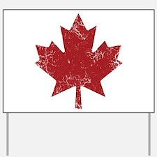 Maple Leaf Yard Sign