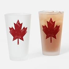 Maple Leaf Drinking Glass