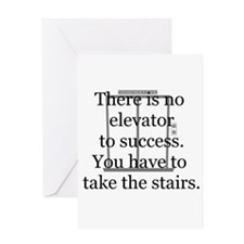 No Elevator to Success Greeting Card