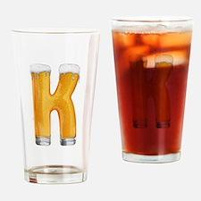 K Beer Drinking Glass