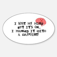 Lost My Mind... Sticker (Oval)