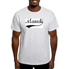 Vintage: Mandi Ash Grey T-Shirt