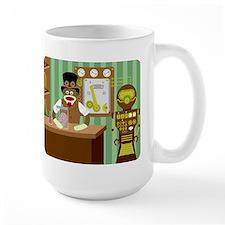 Sock Monkey Steampunk Scientist Large Coffee Mug