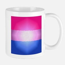Bisexual Pride Flag - Stained Glass Design Mug
