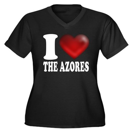 IHeartTheAzores-dark.png Women's Plus Size V-Neck