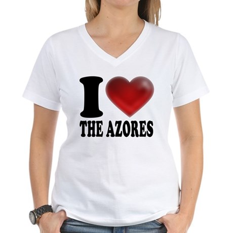 IHeartTheAzores.png Women's V-Neck T-Shirt