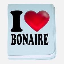 I Heart Bonaire baby blanket