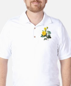 Pierre-Joseph Redoute Rose Golf Shirt