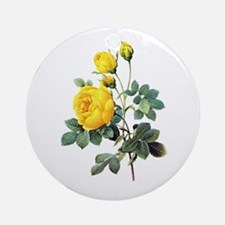Pierre-Joseph Redoute Rose Ornament (Round)