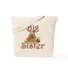 Big Sister Fluffy Pup 1 Tote Bag