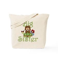 Big Sister Fluffy Pup 2 Tote Bag