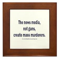News Media Murderers Framed Tile