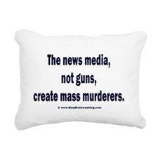 News Media Murderers Rectangular Canvas Pillow