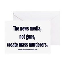 News Media Murderers Greeting Card