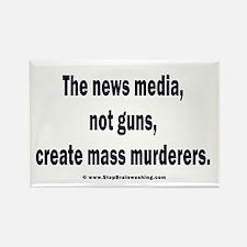 News Media Murderers Rectangle Magnet (100 pack)
