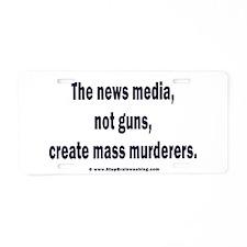 News Media Murderers Aluminum License Plate