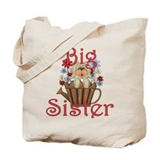 Big Sister Fluffy Pup 4 Tote Bag