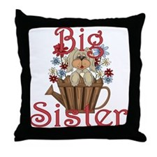Big Sister Fluffy Pup 4 Throw Pillow