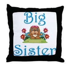 Big Sister Fluffy Pup 5 Throw Pillow