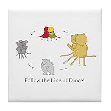 Follow the Line of Dance! Tile Coaster