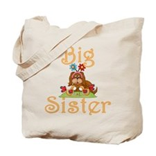Big Sister Fluffy Pup 6 Tote Bag