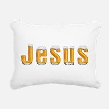 Jesus Beer Rectangular Canvas Pillow