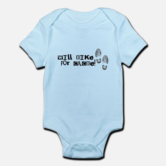 Will Hike For Cache Infant Bodysuit