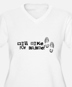 Will Hike For Cache T-Shirt