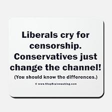 Liberals vs Conservatives Mousepad