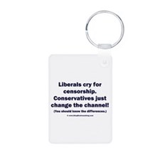 Liberals vs Conservatives Keychains
