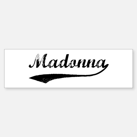 Vintage: Madonna Bumper Bumper Bumper Sticker