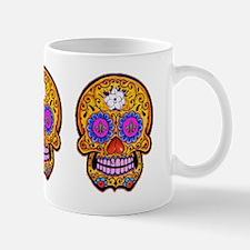 Fleur de Lis Sugar Skull Mug