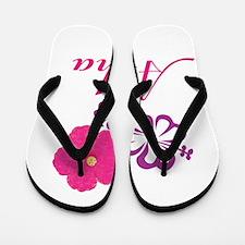 Pink Hibiscus Aloha Flip Flops