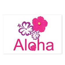 Pink Hibiscus Aloha Postcards (Package of 8)