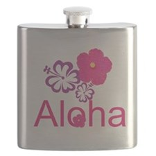 Pink Hibiscus Aloha Flask