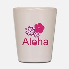Pink Hibiscus Aloha Shot Glass